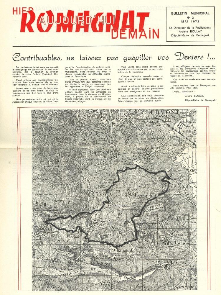 Bulletin municipal n°2 – 1972