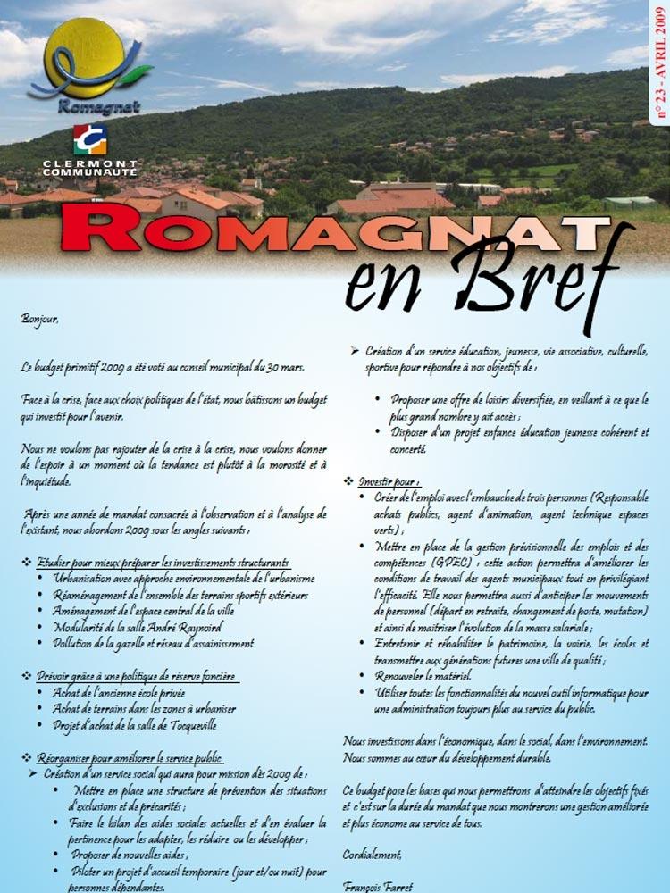 Romagnat en Bref 23