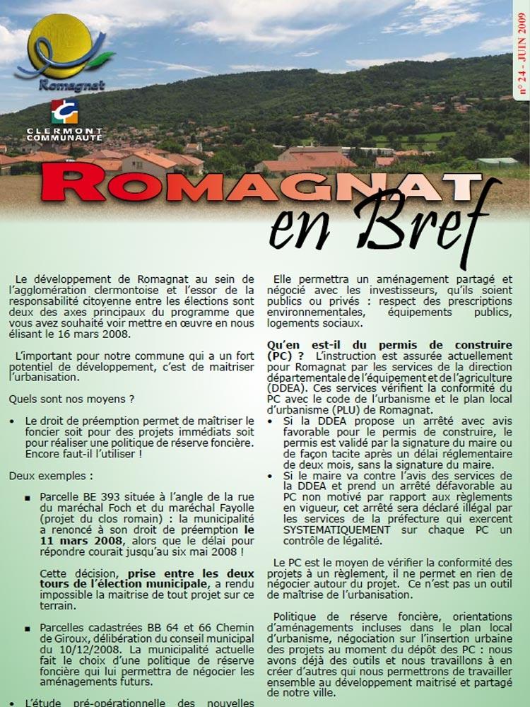 Romagnat en Bref 24