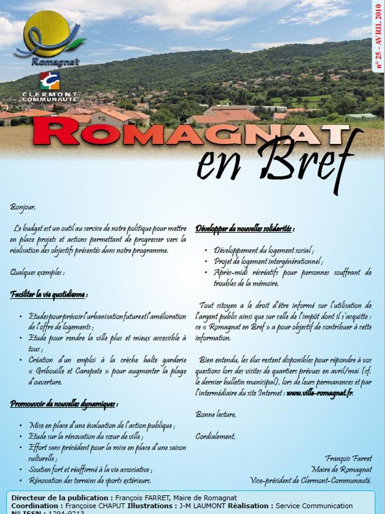 Romagnat en Bref 25