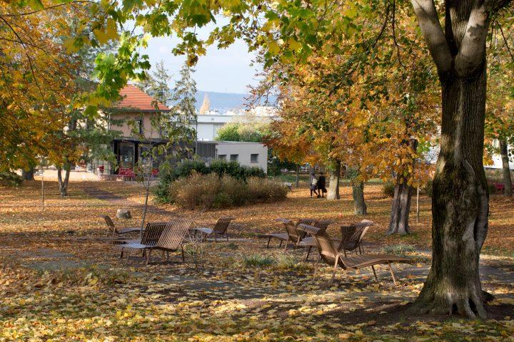 Le parc Bernard-de-Tocqueville à l'automne