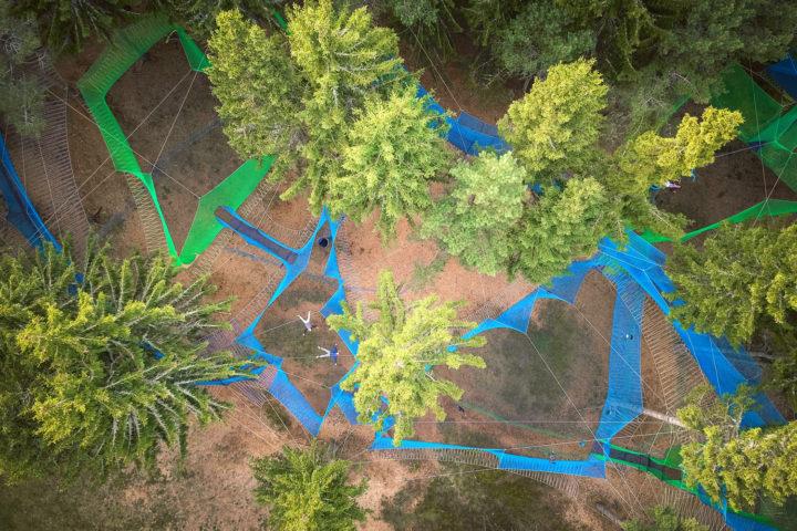 Le parc AcroFun à Pessade Pleine Nature © Visual Bird