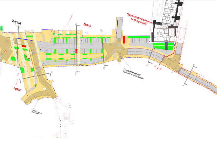 Plan du projet de requalification de la place François-Mitterrand