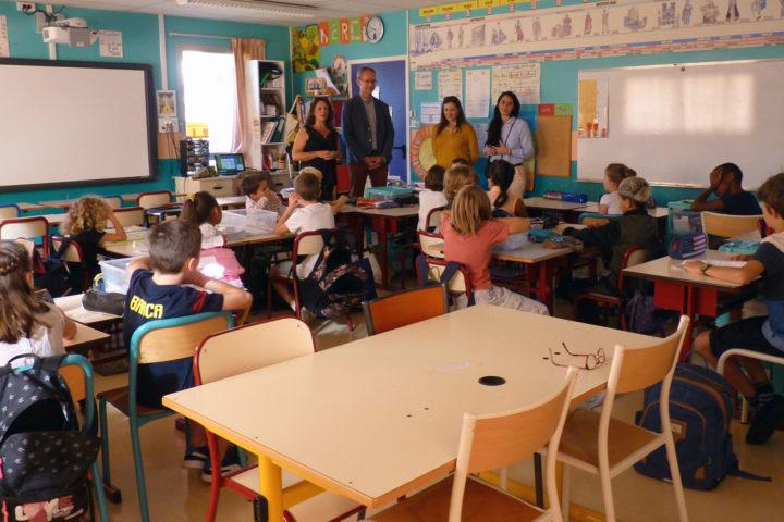 Une classe de l'école Boris-Vian à Romagnat