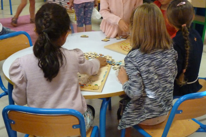 Jeux à l'école Louise-Michel de Romagnat