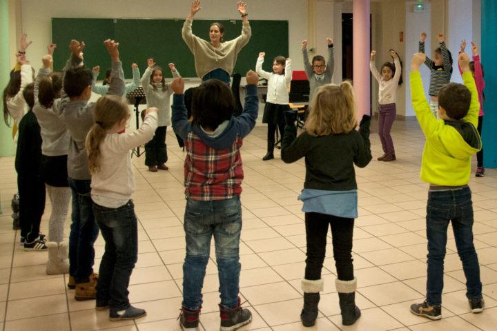 Activité musique à la salle Jacques-Prévert