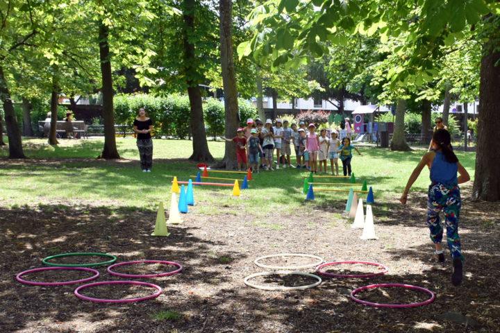 Le parc est régulièrement utilisé par les enseignants et les animateurs des services périscolaires.