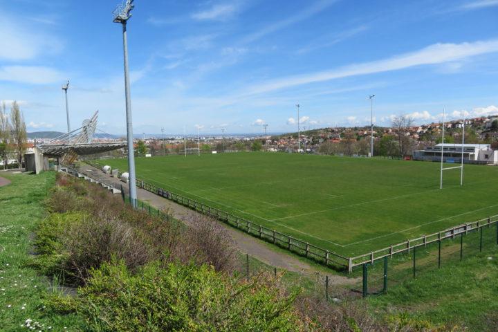 Le terrain Michel-Brun accueille les matches de rugby et de football