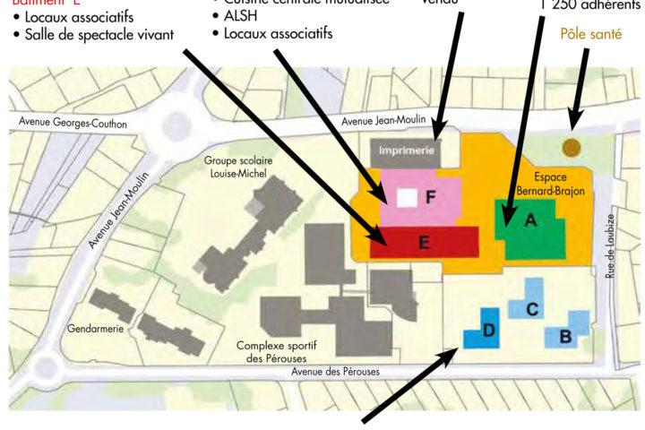 Plan de l'Espace Brajon