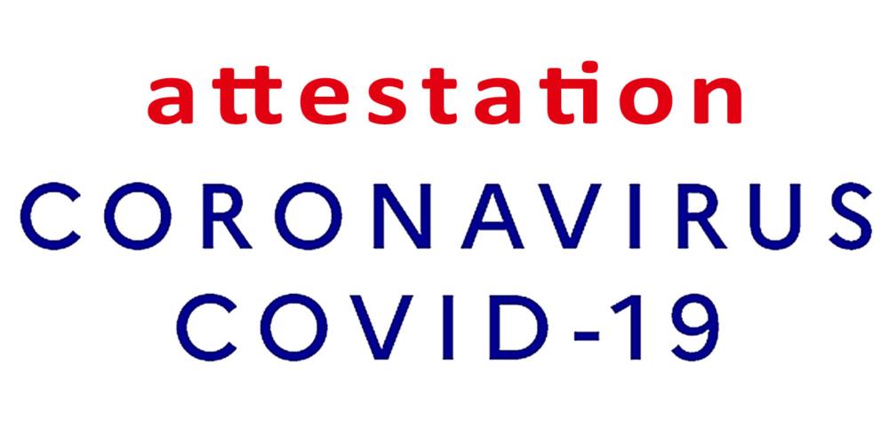 COVID-19 : attestation