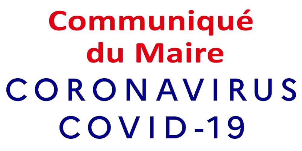 COVID-19 : communiqué du Maire