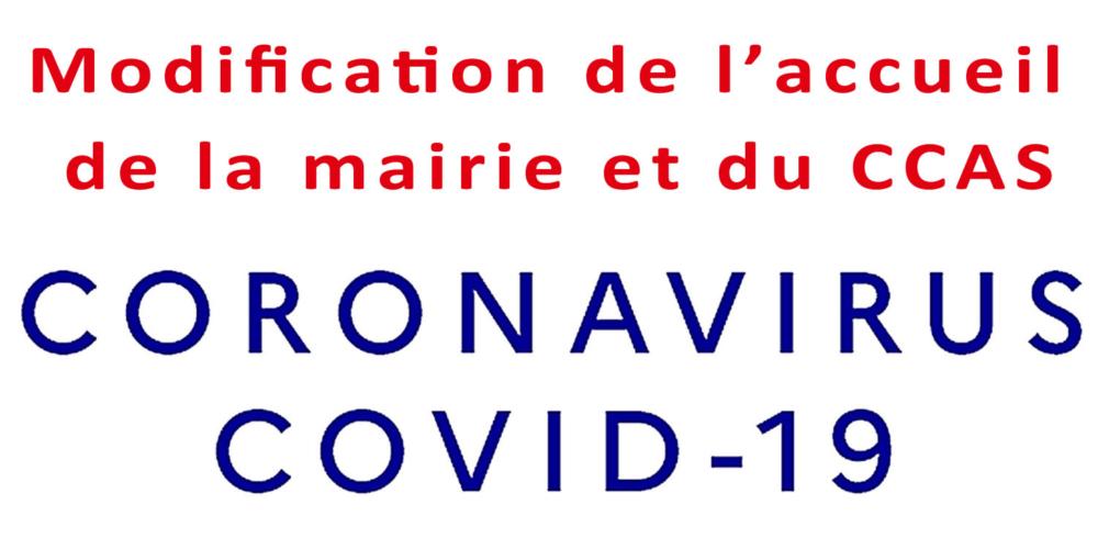COVID-19 : accueil à la mairie et au CCAS