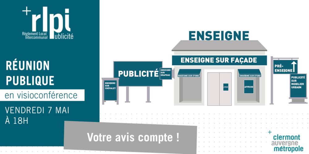 Réunion publique – Règlement Local de Publicité intercommunal (RLPi)