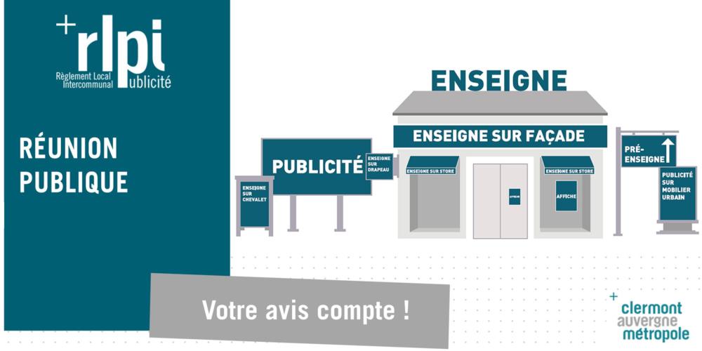 Réunions publiques – Règlement Local de Publicité intercommunal (RLPi)